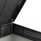 Шкаф от полипропилен - 82x140x124 см, сив