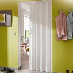 Сгъваема врата тип хармоника 100 x 200 см - бяла