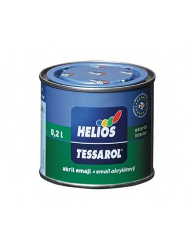 Акрилен емайллак Helios Tessarol, сатен, 0,20 л -