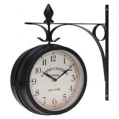 Двустенен часовник, метал 9х33 см