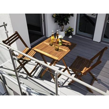Сгъваема маса и два стола - комплект за балкон
