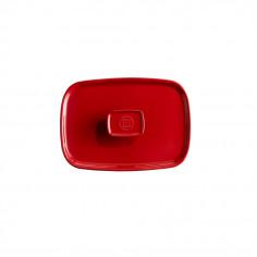 Керамичен правоъгълен капак за тави EH 9650 - цвят червен - EMILE HENRY