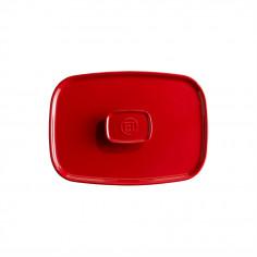 Керамичен правоъгълен капак за тави EH 9652 - цвят червен - EMILE HENRY