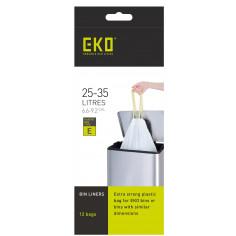 Торби за смет с връзки, размер Е, 25-35 литра, 12 бр - EKO