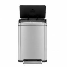 """Кош за отпадъци с педал """"X-CUBE""""- 30 литра - мат - EKO"""