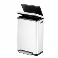 """Кош за отпадъци с педал """"X-CUBE""""- 30 литра - бял - EKO"""