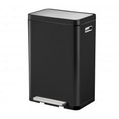 """Кош за отпадъци с педал """"X-CUBE""""- 45 литра - черен - EKO"""