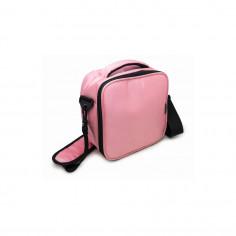 Термоизолираща чанта за храна с два джоба - розов цвят - Vin Bouquet