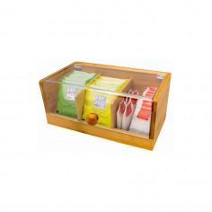 Imagén: Бамбукова кутия за съхранение на чай - малка - Vin Bouquet