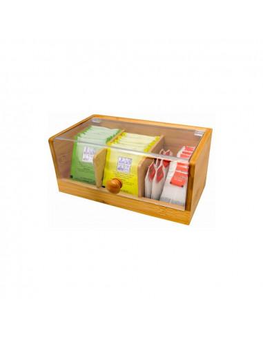 Бамбукова кутия за съхранение на чай - малка - Vin Bouquet