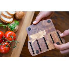 """Комплект от 5 бр. ножове в дървен блок - серия """"CONTROL"""" - Zyliss"""