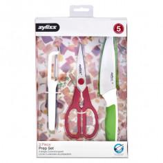 Комплект за подготовка на храна от 3 части - белачка, ножица и универсален нож - Zyliss