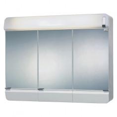 Огледален шкаф с осветление - 68,3x48,5 см, с контакт, PVC