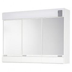 Огледален шкаф с осветление - 70х54 см, PVC