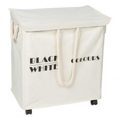 Кош за пране - 35х56х60 см, с капак и колела