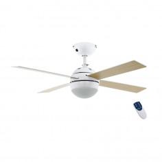Imagén: Таванен вентилатор E27 AC Ø153 бяло/дърво