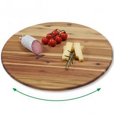 Въртяща се поставка за пица, сирена, мезета от Акация, 40 см, KESPER Германия