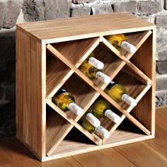 Етажерка за вино РОМБ за 12 бутилки, светла, KESPER Германия