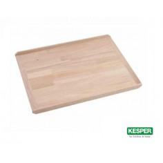 Imagén: Дървена дъска за месене и разточване, бук, 58 * 38 см с ограничители, KESPER Германия