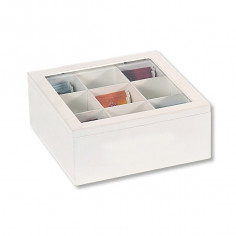 Кутия за чай, бяла, 9 сектора, KESPER Германия