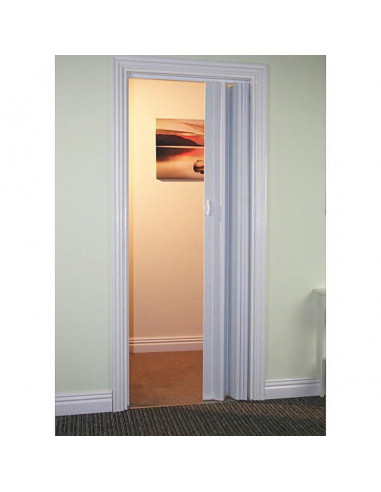 Сгъваема врата тип хармоника 88 x 203 см - бяла