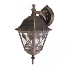 Градинска лампа Haga - 100 W, E27, IP44, горно окачване, антично злато