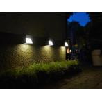 LED външна соларна лампа Luxform Skye Intelligent Solar - ДхШхВ 10x6x8 см, два светодиода, 15 lm