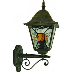 Градинска лампа долен носач Belight - 60 W, Е27, златиста патина