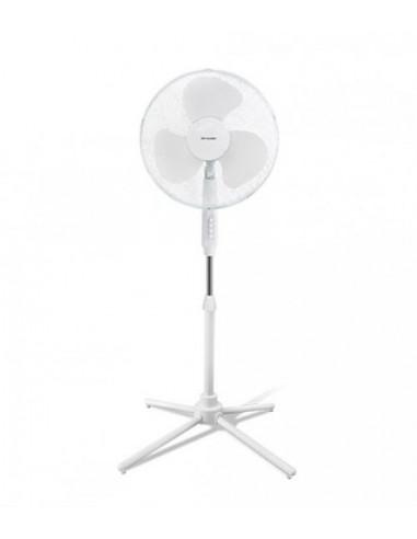 Вентилатор - стоящ в бял цвят, 50 W, 40 см