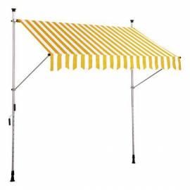 Сенник полиестерен - 300 x 130 см - жълт/бял
