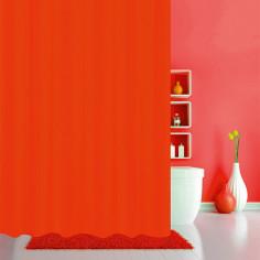 Завеса за баня Rot - 180х200 см, текстилна, червена
