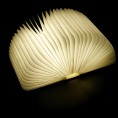 LED настолна нощна лампа - кафява/прозрачна, 2,5 x 9 x 12,3 см, RGBW