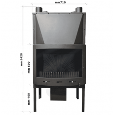 Горивна камера за камина - ГК21, въздушна риза и вентилатор, 18 кW