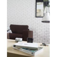 Стенна облицовка Pamira - 18х6 см, бяла