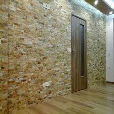 Стенна облицовка - Кварцит, старо злато, 5 см, 0,5 м²