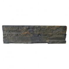 Стенна облицовка Terra Vulcano - 11,2 x 39 cm, антрацит, изкуствен камък, 1.05 кв. м/пак.