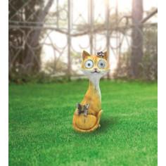 LED соларна лампа котка -...
