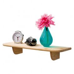 Дървен рафт - 18x60x3,5 см, бор
