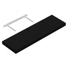 Рафт със скрито окачване XL - ДхШ 80х24 см, цвят черен