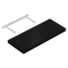 Рафт със скрито окачване, - ДхШ 60x24 см, цвят черен