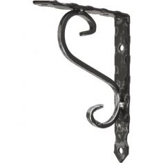 Конзола Ornament - 15,5х11,5х1,9 см, ковано желязо, черна