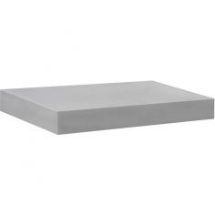 Рафт със скрито окачване Big Boy - 44,5х20х3,7 см, HDF, сребрист