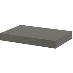 Рафт със скрито окачване Big Boy - 44,5х25х5 см, HDF, тъмносив