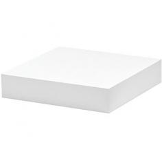 Рафт със скрито окачване Big Boy - 25х25х5 см, HDF, бял