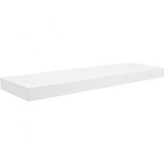 Рафт със скрито окачване Big Boy - 57х20х3,7 см, HDF, бял