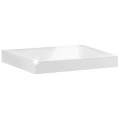 Imagén: Рафт със скрито окачване Big Boy - 115х25х5 см, HDF, бял гланц