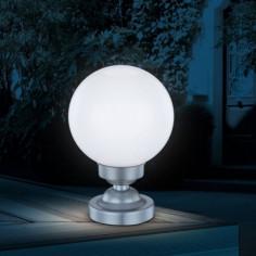 Соларна лампа бяла топка...