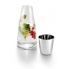 "Стъклена гарафа / кана с чаша ""H2O"" - philippi"