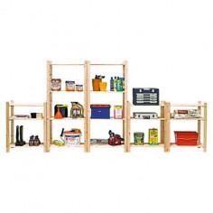 Дървен стелаж Simple - 40x75x170 см, 4 рафта