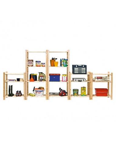 Дървен стелаж Simple - 29x75x170 см, 4 рафта